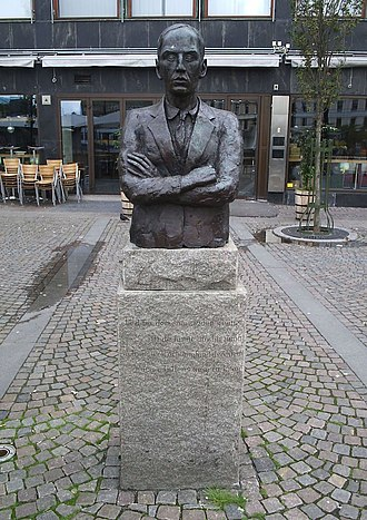 Dan Andersson - Dan Andersson bust in Gothenburg.
