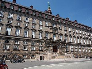 Folketing - Christiansborg Palace, the location of the Folketing chamber since 1849