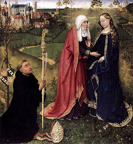 Посещение Елизаветы (1434—1435). Жак Даре. Берлин, Государственные музеи