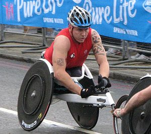 David Weir (wheelchair athlete) - Weir during the 2010 London Marathon