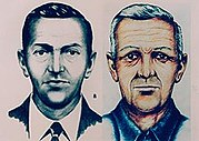 FBI sketch of Cooper, with age progression