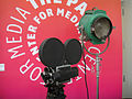 Debbie Reynolds Auction - 10 - Bell & Howell 2709 camera and lamp.jpg