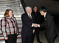 Defense.gov News Photo 110112-F-6655M-013 - Secretary of Defense Robert M. Gates and wife Becky are greeted by the Director General of the Japanese Ministry of Foreign Affairs Umemoto on.jpg