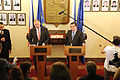 Defense.gov News Photo 110615-D-TX536-007 - Deputy Secretary of Defense William J. Lynn III left and Czech Minister of Defense Alexandr Vondra conduct a joint press conference following their.jpg