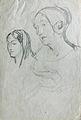 Dehodencq A. - Pencil - Etude de deux personnages féminins - 12x18cm.jpg
