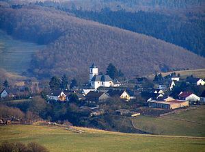 Demerath - View from the west (Steineberg) of Demerath