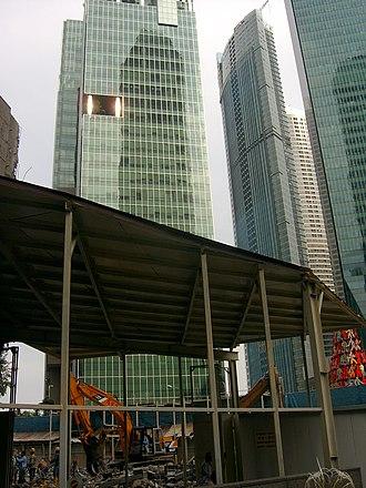 Ocean Financial Centre - Image: Demolition of Ocean Building, Singapore 20080323