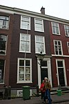foto van Pand met gevel, deur met pilasteromlijsting