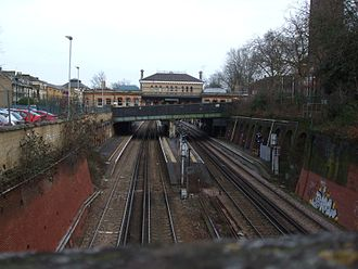 London Overground - Denmark Hill station on the Overground South London Line extension