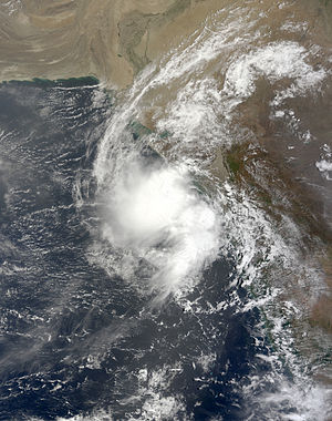 2009 North Indian Ocean cyclone season - Image: Depression ARB 01 2009 06 23 0600Z