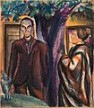 Derkovits Gyula - 1923 - Élet és halál (Bátyám és felesége, Fa alatt).jpg