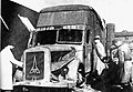 Destroyed Magirus-Deutz furniture transport van Kolno Poland 1945.jpg