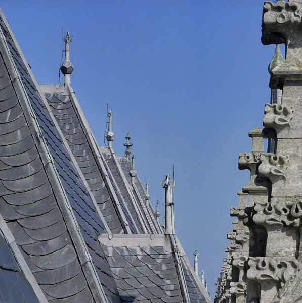 File:Detail van pinakels met kruisbloemen en bliksemafleiders op het dak - Deventer - 20383121 - RCE.jpg