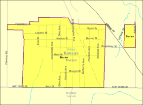 Detailed map of Burns, Kansas.png