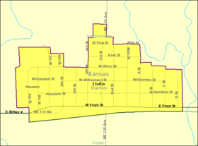 Detailed map of Claflin, Kansas.png