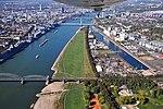 Deutzer Hafen, Poller Wiesen, Rheinbrücken.jpg
