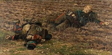 Deux mobiles tués, fragment du panorama de La Bataille de Champigny.jpg