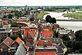 Deventer, view from tower of the Lebuïnuskerk to Polstraat and to Wilhelminabrug.jpg