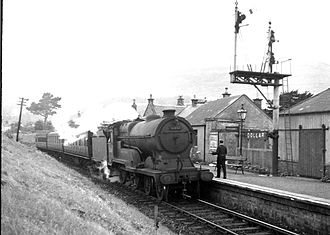 Devon Valley Railway - Locomotive number 62684 at Dollar Station in 1957