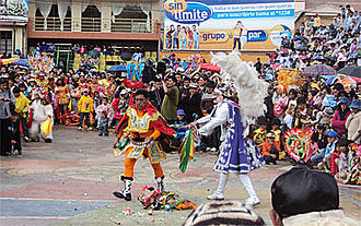 "Diablada - ""Struggle of the Diablada"" written and presented in Oruro in 1818 by the parish priest Ladislao Montealegre, maintained and presented to date by the ""Great Traditional Diablada Autentic Oruro"" in the Carnival of Oruro."