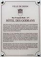 Dijon Hotel des GODRANS plaque information.jpg