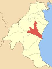 Η θέση του Δήμου Κατερίνης στο νομό Πιερίας.