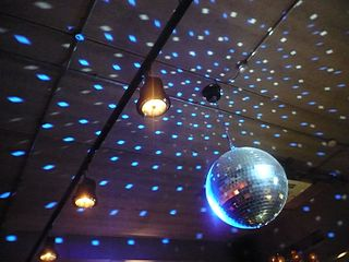 Disco ball and ceiling.