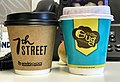 Disposable paper coffee cups- 7th Street, Coffee Bug, Queensland.jpg