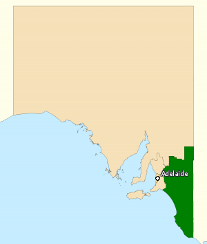 Division of Barker - Division of Barker in South Australia, as of the 2016 federal election.