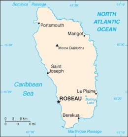 Dominica - Mappa
