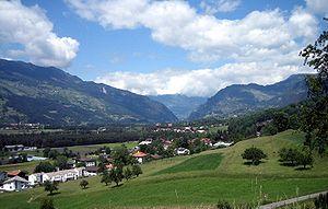 Domleschg (valley) -  Views over Domleschg looking north