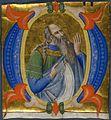 Don Silvestro dei Gherarducci - Gradual 1 for San Michele a Murano - A Prophet in an Initial O (Art Institute of Chicago, acc. no. 1915.550).jpg