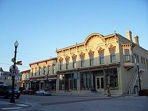 Sheboygan Falls, Wisconsin - Image: Downtown Historic District Sheboygan Falls Wisconsin 1
