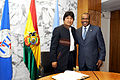 Dr Hamadoun Touré, ITU Secretary-General and H.E. Mr Juan Evo Morales Ayma, President of Bolivia - Flickr - itupictures.jpg