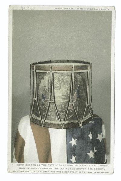 File:Drum Beaten at the Battle of Lexington by William Diamond, Lexington, Mass (NYPL b12647398-402520).tiff