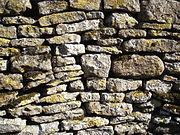 Dry Stone Wall - Blackmile Lane, Grendon, Northamptonshire