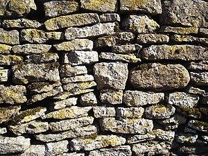 Dry Stone Wall - Blackmile Lane, Grendon, Nort...
