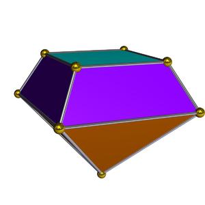 Elongated square pyramid - Image: Dual elongated square pyramid