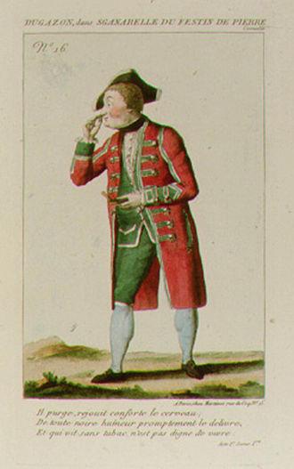Jean-Henri Gourgaud - Jean-Henri Gourgaud, called Dugazon, in Le Festin de Pierre by Molière (1790). Priv. coll