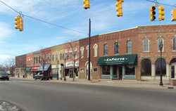 Dundee Historic District along M-50