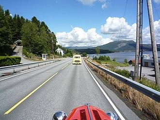 European route E134 - Road E134 at Skjold in Vindafjord