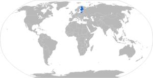 Sisu E13TP - Map with E13TP operators in blue