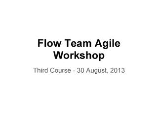 E2-Flow Agile Trainings - Third Course