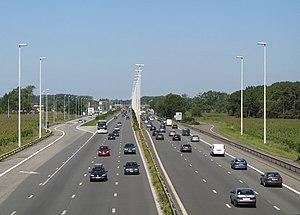 A10 motorway (Belgium) - the A10 near Jabbeke