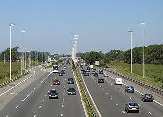 European route E40 - Image: E40 Jabbeke