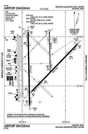 Ellington Airport (Texas) - FAA diagram of Ellington Field