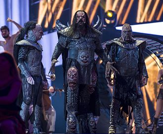 Lordi - Lordi, appearing in the interval act for the Eurovision Song Contest 2016