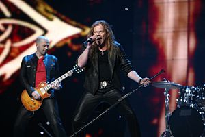 Iceland in the Eurovision Song Contest - Image: ESC 2007 Iceland Eirikur Hauksson Valentine Lost