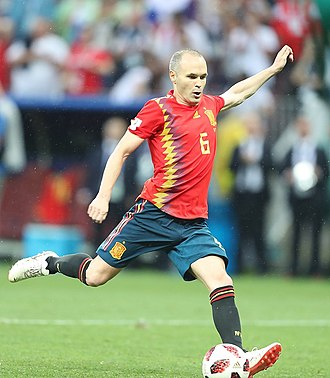 Andrés Iniesta - Iniesta with Spain at the 2018 FIFA World Cup in Russia