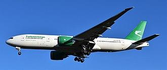 Turkmenistan Airlines - Turkmenistan Airlines Boeing 777-200LR